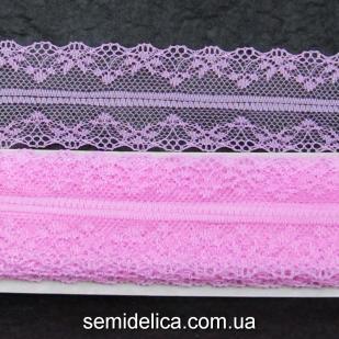 Кружево 4,0 см, розовый яркий