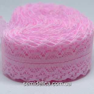 Кружево Ника 2,8 см, розовый
