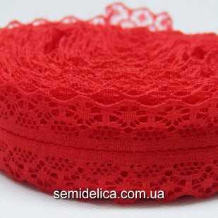 Кружево Ника 2,8 см, красный