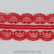 Кружево 4,0 см Сердечко, красный