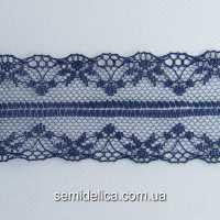 Кружево 4,0 см, темно-синий