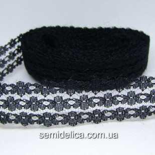 Кружево Лютик 2,5 см, черный