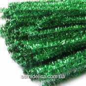 Проволока синельная с люрексом зеленая