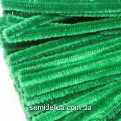 Проволока синельная пушистая зеленая
