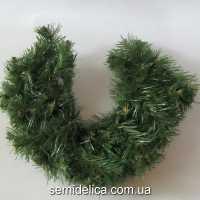 Хвоя искусственная, подкова новогодняя 35,0 см, зеленый