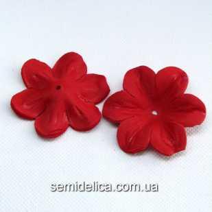 Заготовка для цветочка 5,5 см, красный