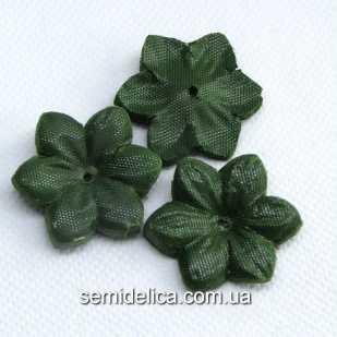 Заготовка для цветочка 6,0 см чашелистик, зеленый темный