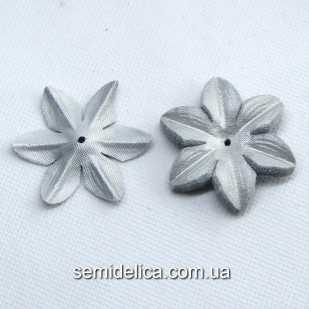 Заготовка для цветочка 4,8 см, серебро