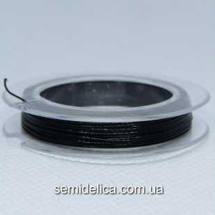 Тросик ювелирный сталь 0,45 мм, 10 м, черный