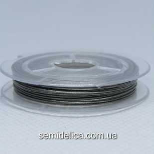 Тросик ювелирный сталь 0,45 мм, 10 м, серый