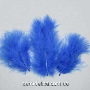 Перья пушистые 6-10 см, синий