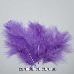Перья пушистые 6-10 см, фиолетовый
