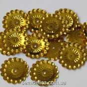 Пайетки 20 мм, золото