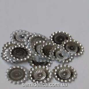 Пайетки 20 мм, серебро