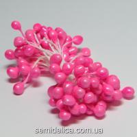 Тычинки 2мм, розовый яркий