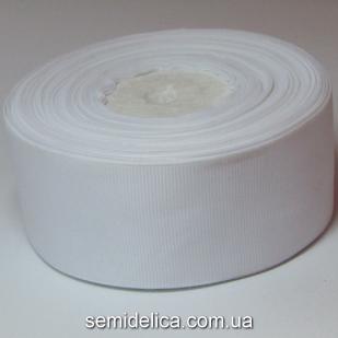 Лента репсовая 4,0 см, белый