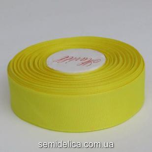 Лента репсовая 2,5 см, желтый