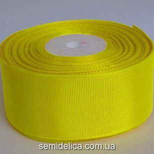 Лента репсовая 4,0 см, желтый