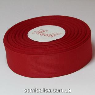 Лента репсовая 2,5 см, красный