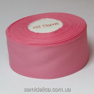 Лента репсовая 4,0 см, розовый