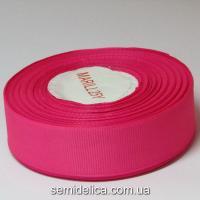 Лента репсовая 2,5 см, розовый яркий