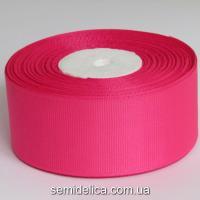 Лента репсовая 4,0 см, розовый яркий