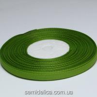 Лента репсовая 0,6 см, оливковый