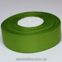 Лента репсовая 2,5 см, оливковый