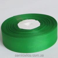 Лента репсовая 2,5 см, зеленый