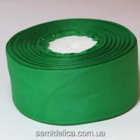Лента репсовая 4,0 см, зеленый
