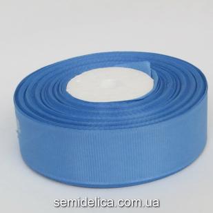 Лента репсовая 2,5 см, синий светлый