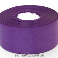 Лента репсовая 4,0 см, фиолетовый