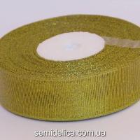 Лента парчевая 2,5 см, золото