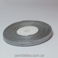 Лента парчевая 0,6 см, серебро