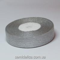 Лента парчевая 2,0 см, серебро