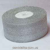 Лента парчевая 4,0 см, серебро