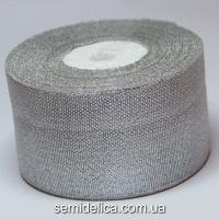 Лента парчевая 5,0 см, серебро