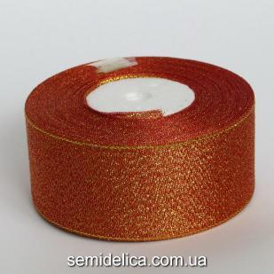 Лента парчевая 4,0 см, красный