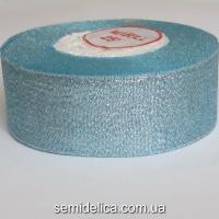 Лента парчевая 4,0 см, голубой