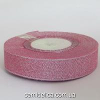 Лента парчевая 2,0 см, розовый