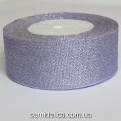 Лента парчевая 4,0 см, сиреневый