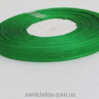 Лента органза 0,6 см, зеленый