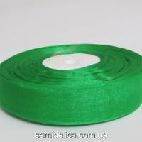Лента органза 2,0 см, зеленый