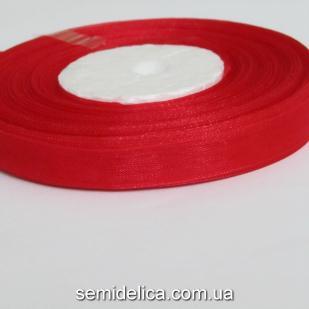 Лента органза 0,9 см, красный