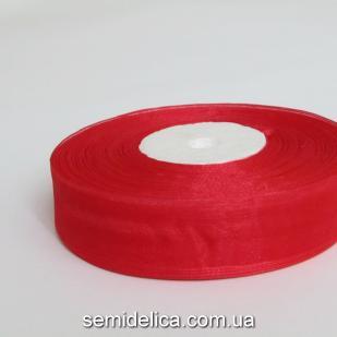 Лента органза 2,0 см, красный