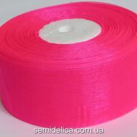 Лента органза 4,0 см, розовый яркий