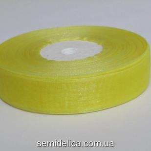 Лента органза 2,0 см, желтый