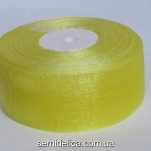 Лента органза 4,0 см, желтый