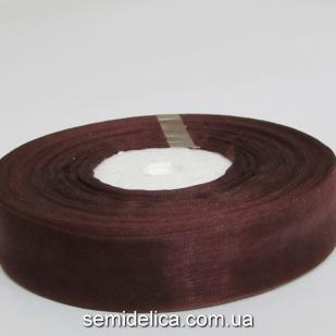Лента органза 2,0 см, коричневый
