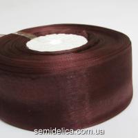 Лента органза 4,0 см, коричневый